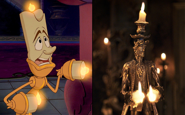 Lumière (Voiced by Jerry Orbach) in 1991's Beauty and the Beast and Lumière (Voiced by Ewan McGregor) in 2017's Beauty and the Beast