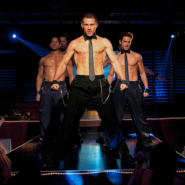Magic Mike (2012) At the Xquisite Male Dance Revue, the motto is: No shirt, no problem.