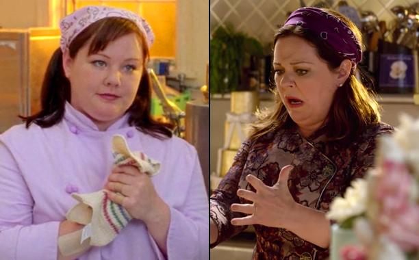Melissa McCarthy as Sookie St. James in Season 1; Melissa McCarthy as Sookie St. James in A Year in the Life