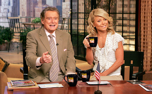Regis Philbin and Kelly Ripa on Live! with Regis and Kelly on April 10, 2006