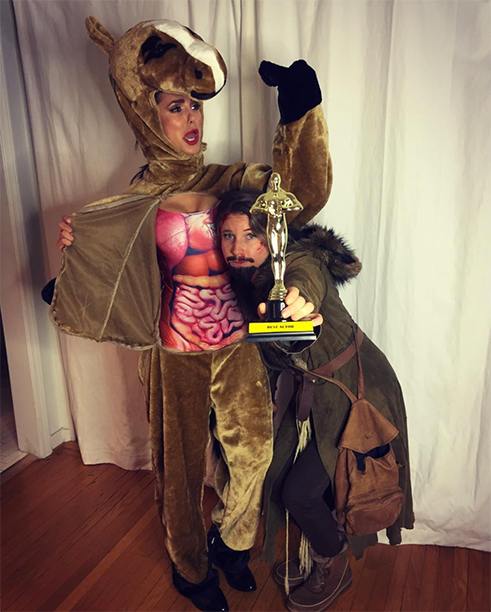 Nina Dobrev as Leonardo DiCaprio's Horse From The Revenant