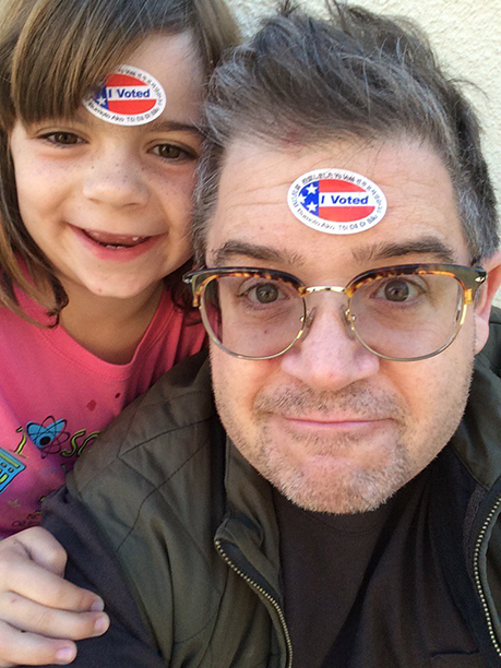 Patton Oswalt and daughter