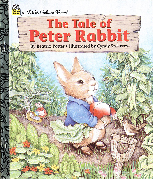Little Golden Book Edition of The Tale of Peter Rabbit Illustrated by Cyndy Szekeres