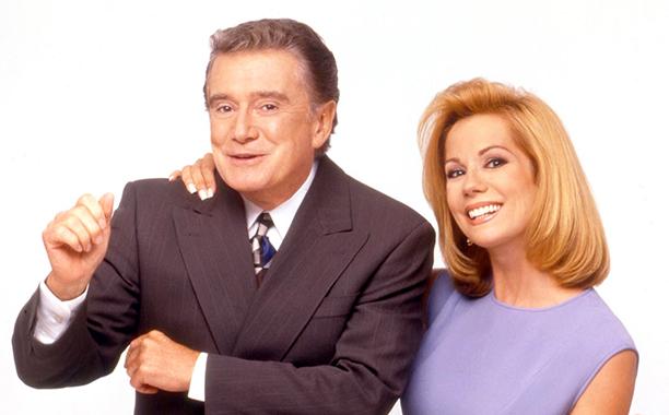 Regis Philbin and Kathie Lee Gifford on Live with Regis and Kathie Lee in 1997