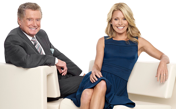 Regis Philbin and Kelly Ripa on Live! with Regis and Kelly on May 8, 2009