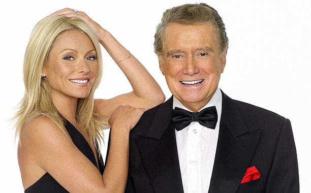 Kelly Ripa and Regis Philbin on Live! with Regis and Kelly on July 24, 2007