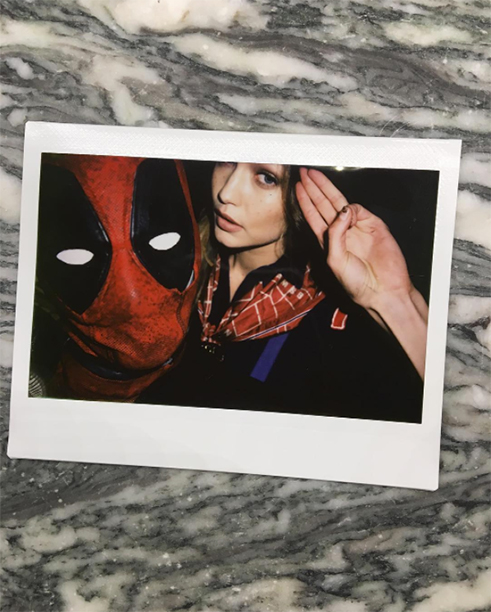 Taylor Swift as Deadpool and Gigi Hadid as a Cub Scout