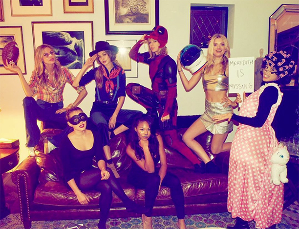 Martha Hunt as Martha Brady, Gigi Hadid as a Cub Scout, Taylor Swift as Deadpool, Lily Donaldson as a Space Cadet, Emmie Gundler as Black Swan, Kennedy Raye as a Cat, and Camila Cabello as a Granny With a Lost Cat