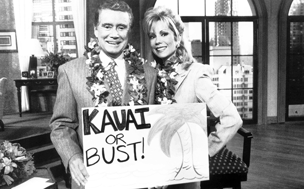 Regis Philbin and Kathie Lee Gifford on Live with Regis and Kathie Lee in the 1990s