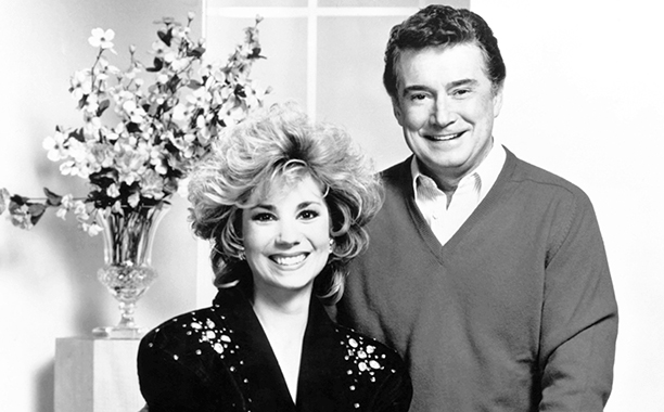 Kathie Lee Gifford and Regis Philbin on Live with Regis and Kathie Lee in the 1980s