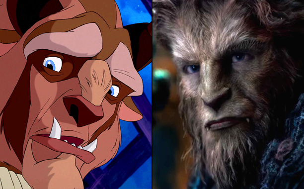 The Beast (Voiced by Robby Benson) in 1991's Beauty and the Beast and Dan Stevens as The Beast in 2017's Beauty and the Beast
