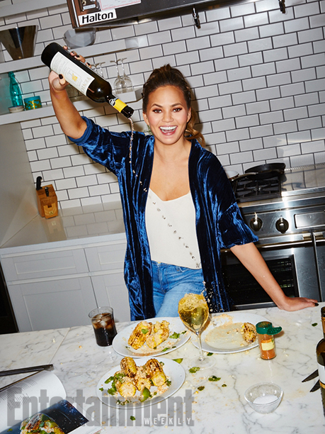 ALL CROPS: GALLERY: Cooking with Chrissy Teigen Chrissy Teigen photographed by Aaron Richter on November 16th, 2016, in NYC at the Time Inc. Photo Studio A Test Kitchen.