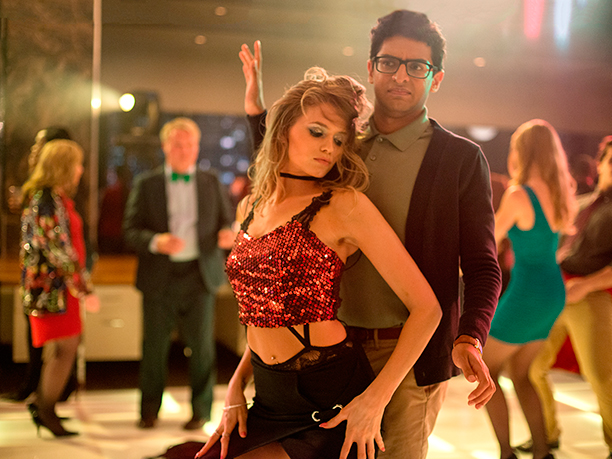 GALLERY: Office Christmas Party (2016)Karan Soni as Nate and Abbey Lee as Savannah
