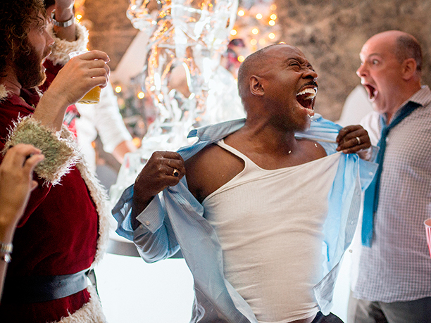 GALLERY: OFFICE CHRISTMAS PARTY (2016)(L-R) T.J. Miller as Clay Vanstone, Courtney B. Vance as Walter and Rob Corddry as Jeremy