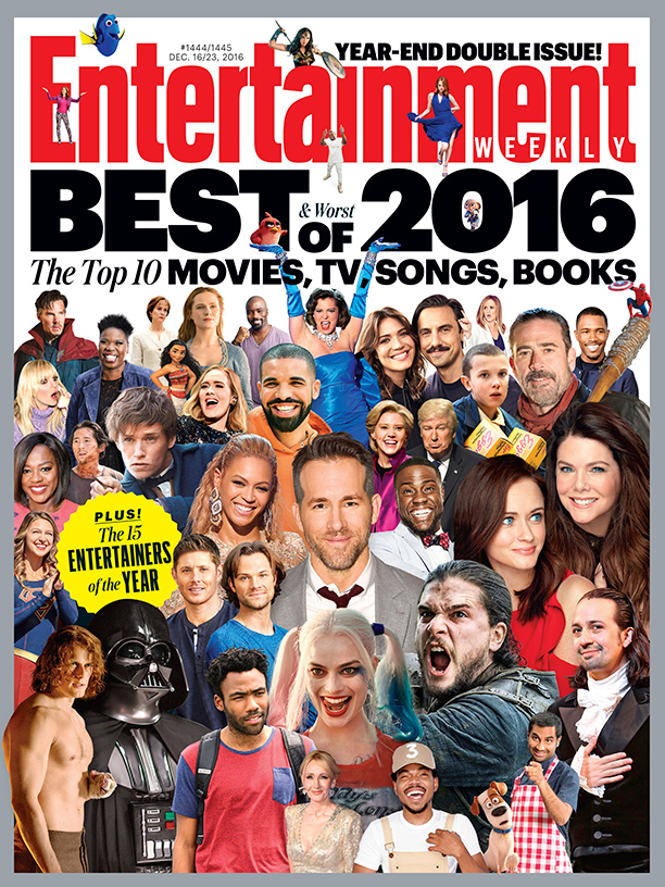 ALL CROPS: EW COVER 1444-1445 Best/Worst Entertainers of the Year 2016
