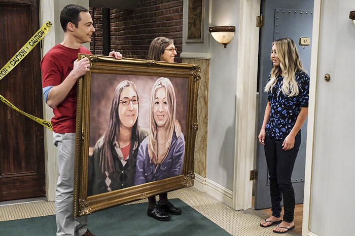 """RECAP: 12/1/16: ALL CROPS: The Big Bang Theory """"The Property Division Collision"""" -- Pictured: Sheldon Cooper (Jim Parsons), Amy Farrah Fowler (Mayim Bialik) and Penny (Kaley Cuoco)."""