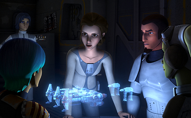 "GALLERY: 'Star Wars' Timeline: STAR WARS REBELS - ""A Princess on Lothal"" EZRA, PRINCESS LEIA ORGANA, KANAN"