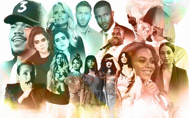 ALL CROPS: Best Songs 2016: Beyonce Fifth Harmony Sia Kanye West Chance The Rapper Solange Miranda Lambert Tegan and Sara Frank Ocean Savages Calvin Harris