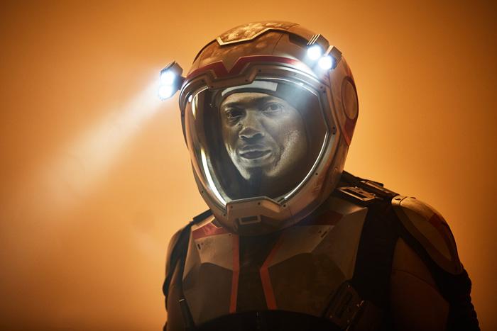 All Crops: Mars Nov. 14 2016 Sammi Rotibi as Robert Foucault a Nigerian mechanical engineer and roboticist. The global event series MARS credit: Robert Viglasky/National Geographic Channels