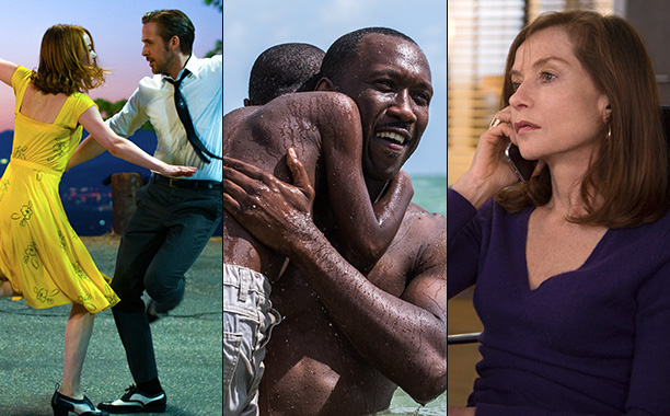 All Crops: La La Land / Moonlight / Elle split