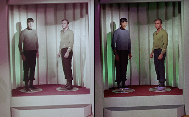 All Crops: Before and After Transporters in the Original Star Trek Split