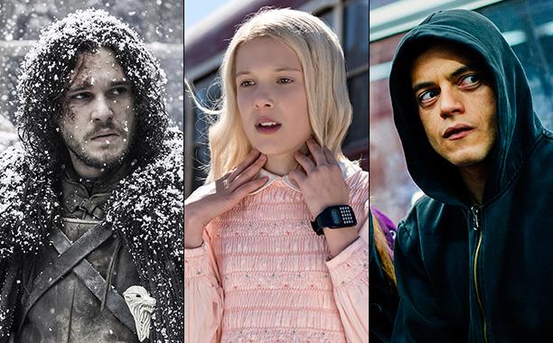 All Crops: Game of Thrones Jon Snow, Stranger Things Eleven, and Mr. Robot Rami Malek Split