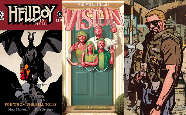 GALLERY: Hellboy in Hell #10, The Vision by Tom King (Marvel), and Sheriff of Babylon by Tom King (Vertigo)