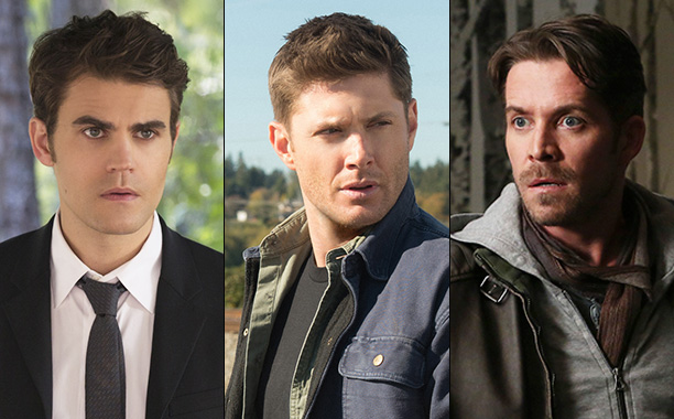 All Crops: Spoiler Room Paul Wesley on Vampire Diaries, Jensen Ackles on Supernatural and Sean Maguire on Once Upon a Time Split