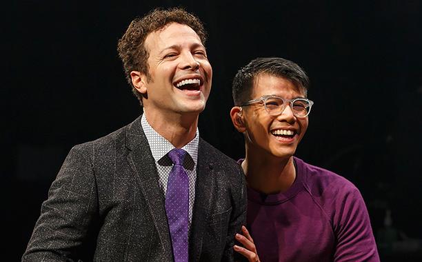 NO CROPS: Justin Guarini, Telly Leung in IN TRANSIT, Photo by Joan Marcus, 2016