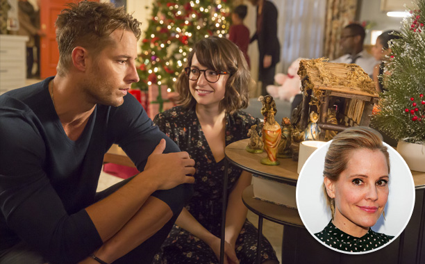 "All Crops: THIS IS US -- ""Last Christmas"" Episode 110 -- Pictured: (l-r) Justin Hartley as Kevin, Milana Vayntrub as Sloane Emma Caulfield 608800930"