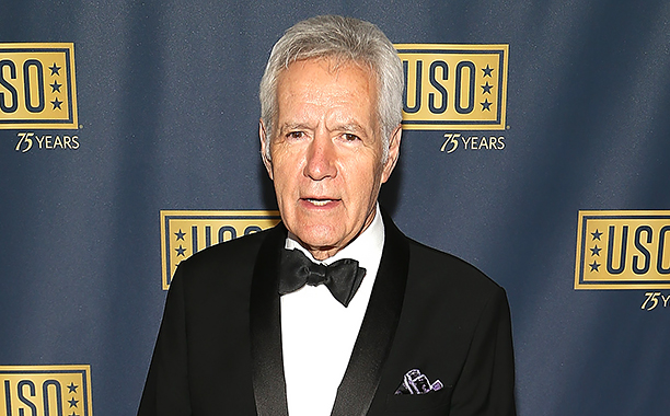 """ALL CROPS: 615934494 """"Jeopardy!"""" host Alex Trebek attends the 2016 USO Gala on October 20, 2016 at DAR Constitution Hall in Washington, DC. (Photo by Paul Morigi/Getty Images)"""