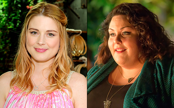 "ALL CROPS: 541159000 Alexandra Breckenridge (Photo by Amy Graves/WireImage); THIS IS US -- ""Pilgrim Rick"" Episode 108 -- Pictured: Chrissy Metz as Kate -- (Photo by: Ron Batzdorff/NBC)"