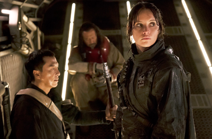 All Crops: Rogue One: A Star Wars Story (2016) Donnie Yen (L) and Felicity Jones (R) Credit: Giles Keyte/© Lucasfilm LFL 2016