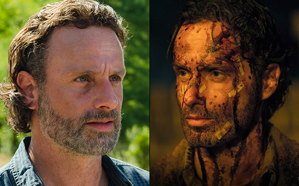 ALL CROPS: Andrew Lincoln on Walking Dead bloody