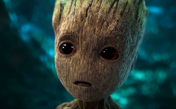 ALL CROPS: Baby Groot in Guardians of the Galaxy Vol. 2 Teaser James Gunn (screen grab) CR: Marvel