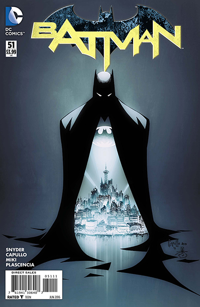 GALLERY: 10 Best Comic Books of 2016: ALL CROPS: Batman #51 by Scott Snyder and Greg Capullo (DC Comics)
