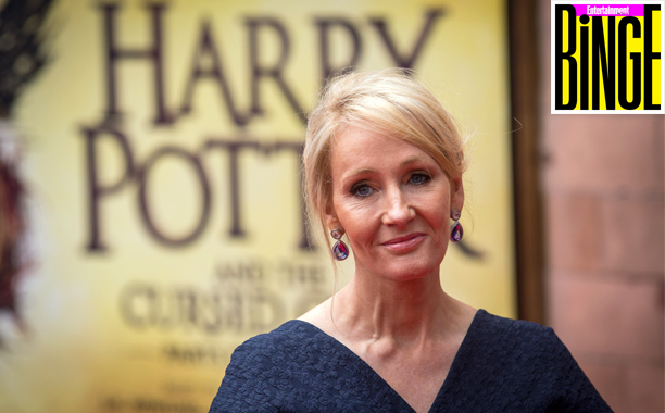 "ALL CROPS: Binge Podcast J. K. Rowling attends the press preview of ""Harry Potter & The Cursed Child"" at Palace Theatre on July 30, 2016 in London, England"