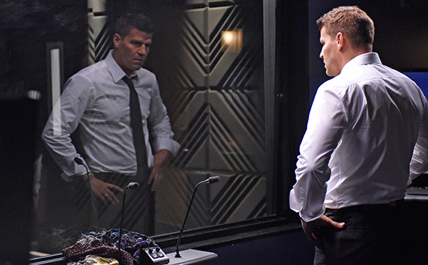 """ALL CROPS: BONES: David Boreanaz in the """"The Final Chapter: The Hope in the Horror"""" season premiere episode of BONES airing Tuesday, Jan. 3 (9:01-10:00 PM ET/PT) on FOX. ©2016 Fox Broadcasting Co. Cr: Ray Mickshaw/FOX"""