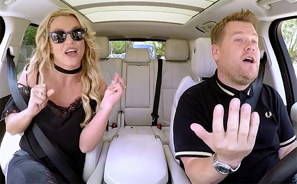 GALLERY: Biggest TV Stories of 2016: ALL CROPS: Britney Spears Carpool Karaoke - preview screen grab