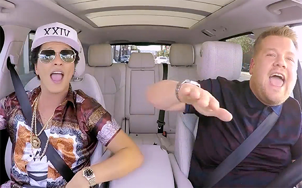 ALL CROPS: Bruno Mars Carpool Karaoke