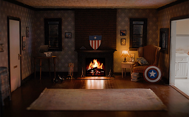 ALL CROPS: Captain America's Brooklyn Apartment Fireside Video in 4K