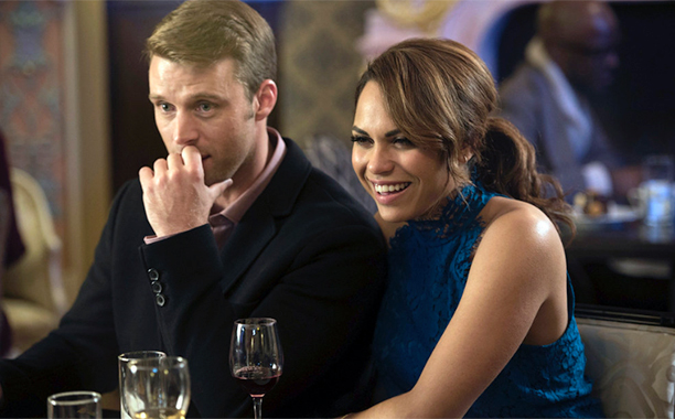 "ALL CROPS: CHICAGO FIRE -- ""Lift Each Other"" Episode 507 -- Pictured: (l-r) Jesse Spencer as Matthew Casey, Monica Raymund as Gabriela Dawson -- (Photo by: Jean Whiteside/NBC)"