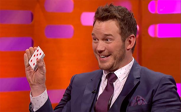 ALL CROPS: Chris Pratt's epic card trick fail - The Graham Norton Show 2016 | Extra - BBC One