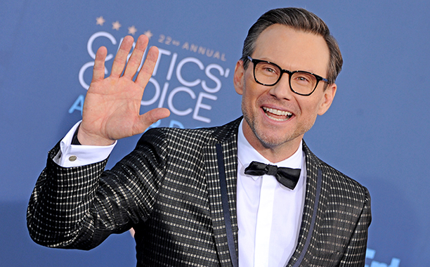 ALL CROPS: 629258816 Christian Slater arrives at The 22nd Annual Critics' Choice Awards at Barker Hangar on December 11, 2016 in Santa Monica, California. (Photo by Gregg DeGuire/WireImage)