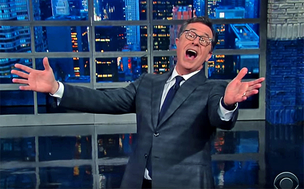 Colbert singing like Sinatra