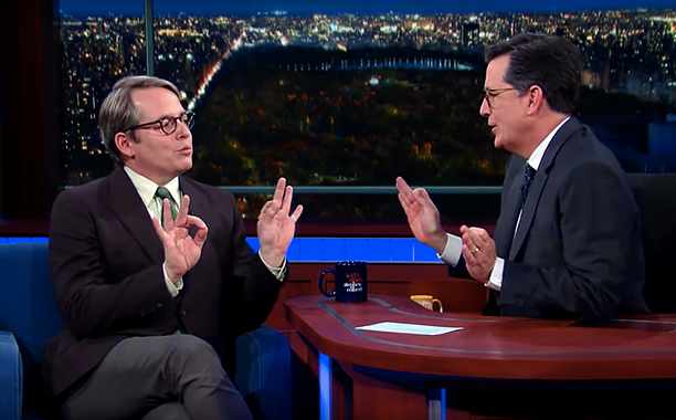 ALL CROPS: The Late Show with Stephen Colbert -- Pictured: Matthew Broderick does Trump (screen grab) CR: CBS