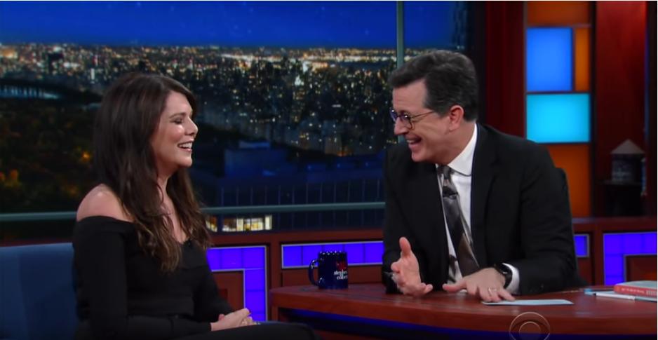 Lauren Graham on Colbert