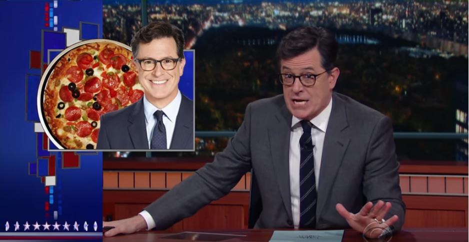 Colbert talks Pizzagate