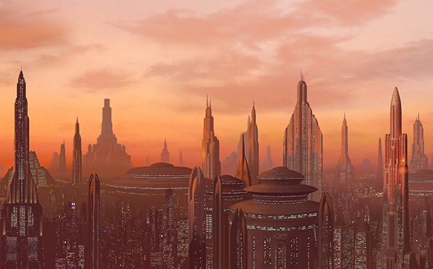 GALLERY: 'Star Wars' Timeline: Star Wars: Episode I - The Phantom Menace Coruscant Sunset