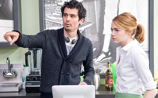 ALL CROPS: La La Land (2016) Damien Chazelle directs Emma Stone